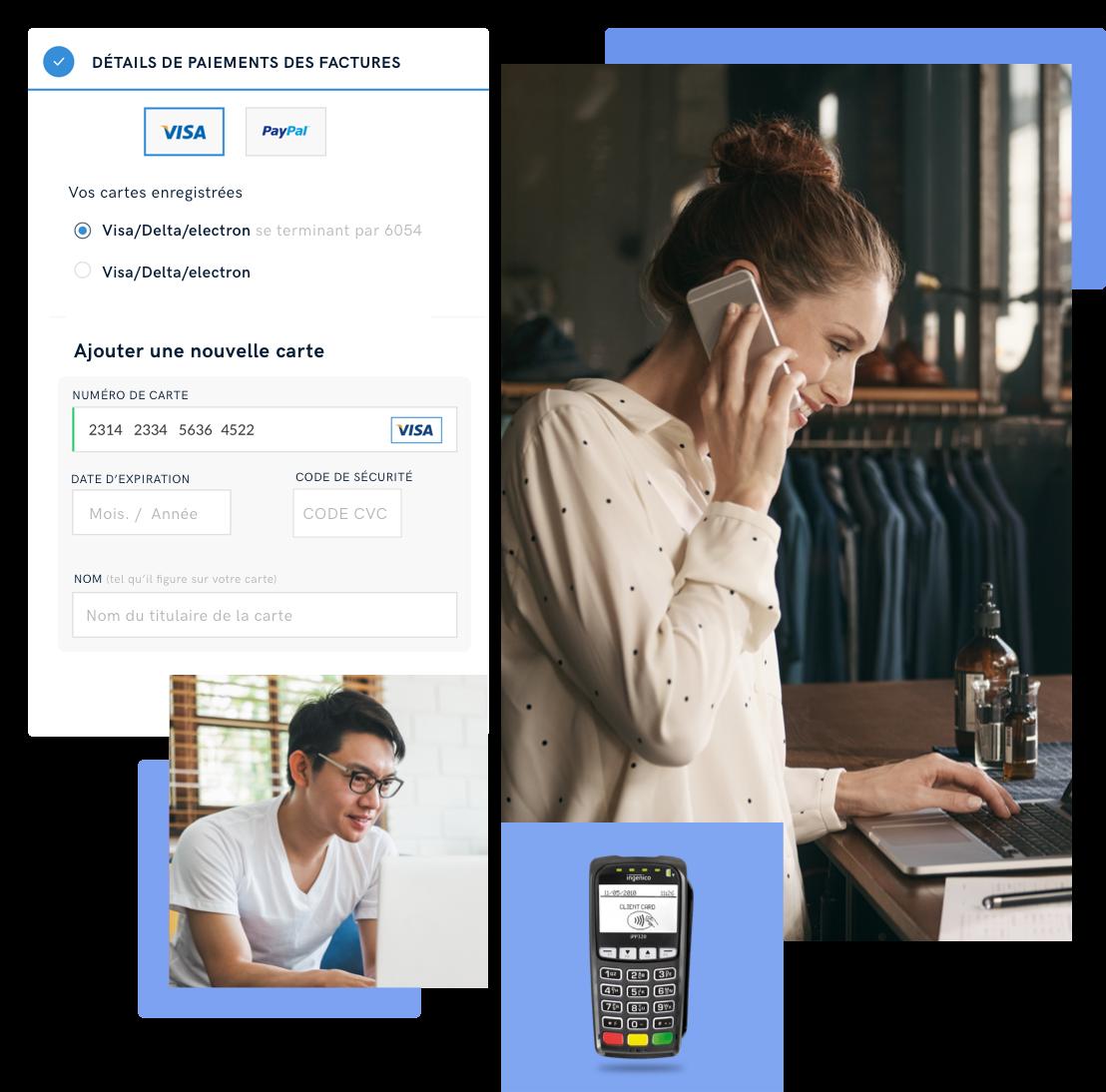 Accepter le paiement sur un terminal virtuel par téléphone