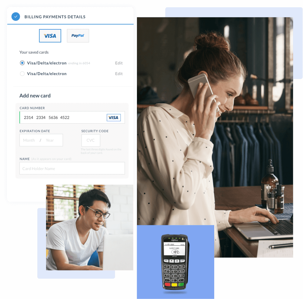 Virtual terminal to accept credit card payments over the phone