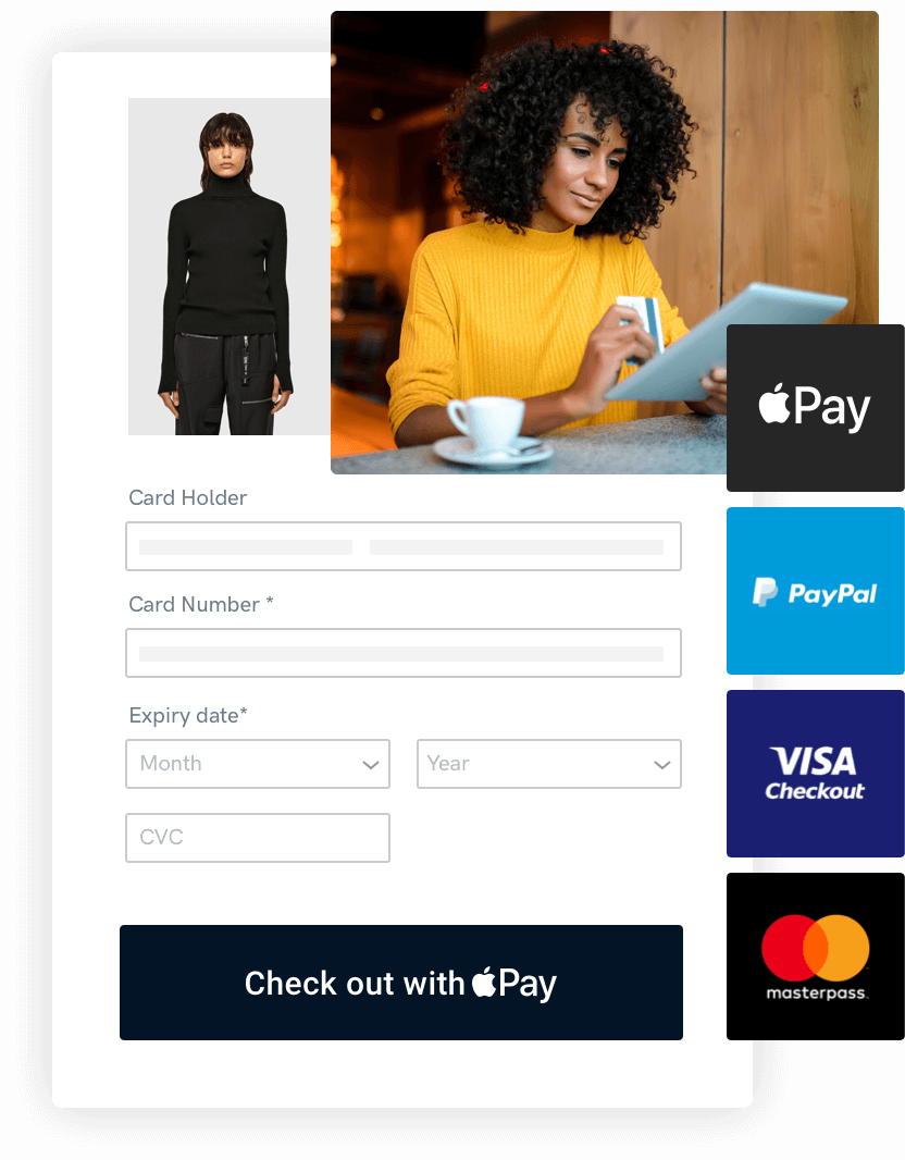 Accepting payments on website through an online payment gateway